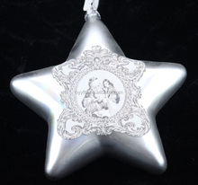 Handmade glass hanging glass decorative stars,Christmas ornaments