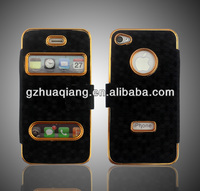leather case for iphone 5c 5s good quality pu leather +PC case china manufacturer