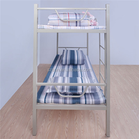 hot sale kids double metal deck bed