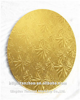 white /gold /silver cake tray grape leaves type cake boards