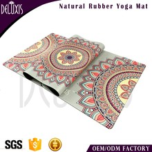 Charming fashion pattern oem design wholesale yoga mat rolls material rubber
