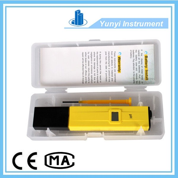 pen type ph meter with lcd display for water, liquid, aquarium, 0.0 - 14.0 pH
