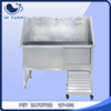 Functional stainless steel fixed foot pet grooming bathtub for dogs and cats, with door QY-803