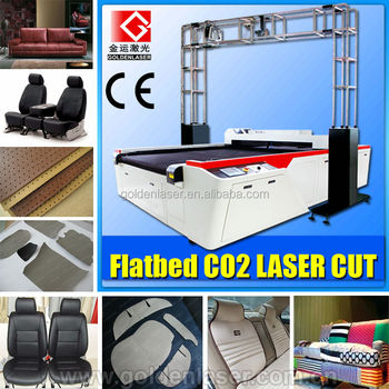 Genuine Leather Laser Cutting Machine Flatbed for Seat Cover Cutting