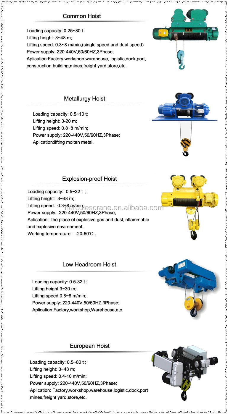 Best selling pa500 pa1000 100kg electric wire rope hoist