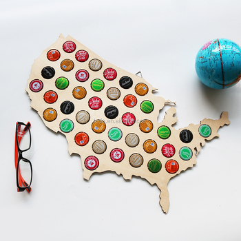SLTP-005 Wood Beer Cap Map Manufacturers