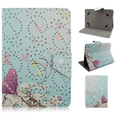 Popular Flower tablet leather cases for Samsung tab 7inch 8inch 10inch