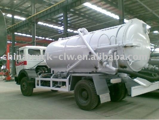 8 CBM North Benz sewage suction tank