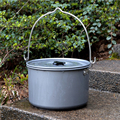 5-6 people outdoor non stick camping hanging pot