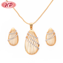 2018 Italian 3 Piece Gold Plated AAA CZ Jewelry Sets For Women