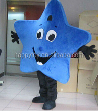 Cosplay costume for sale bule star mascot costume for adults