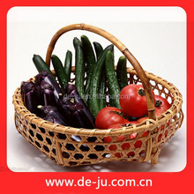 Dark Brown Eco- friendly Hollow Bamboo Artificial Fruit Basket