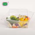 Hot selling 25 oz disposable plastic fruit salad container with lids