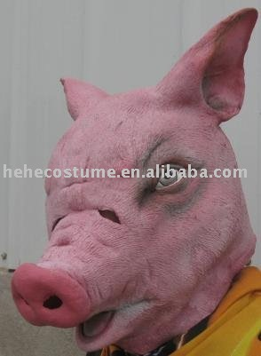 pig Gauze halloween mask for sale