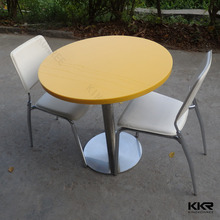 artificial marble chairs and tables for bar used