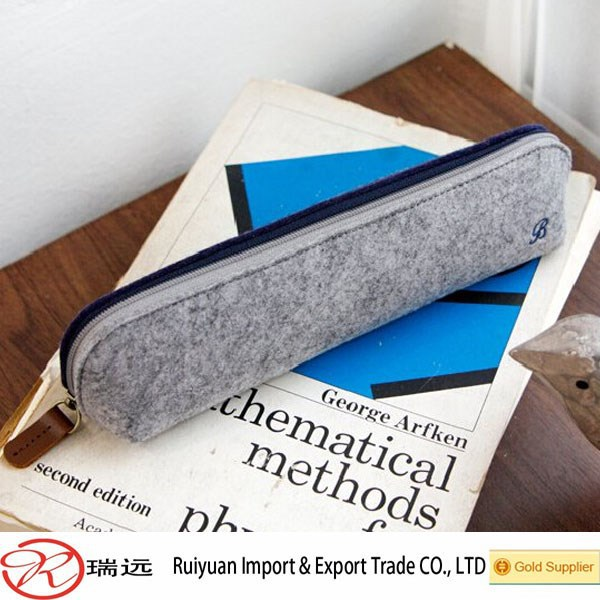 Promotional felt penil bag ,wool felt pencil bag ,felt pen bag for teenagers