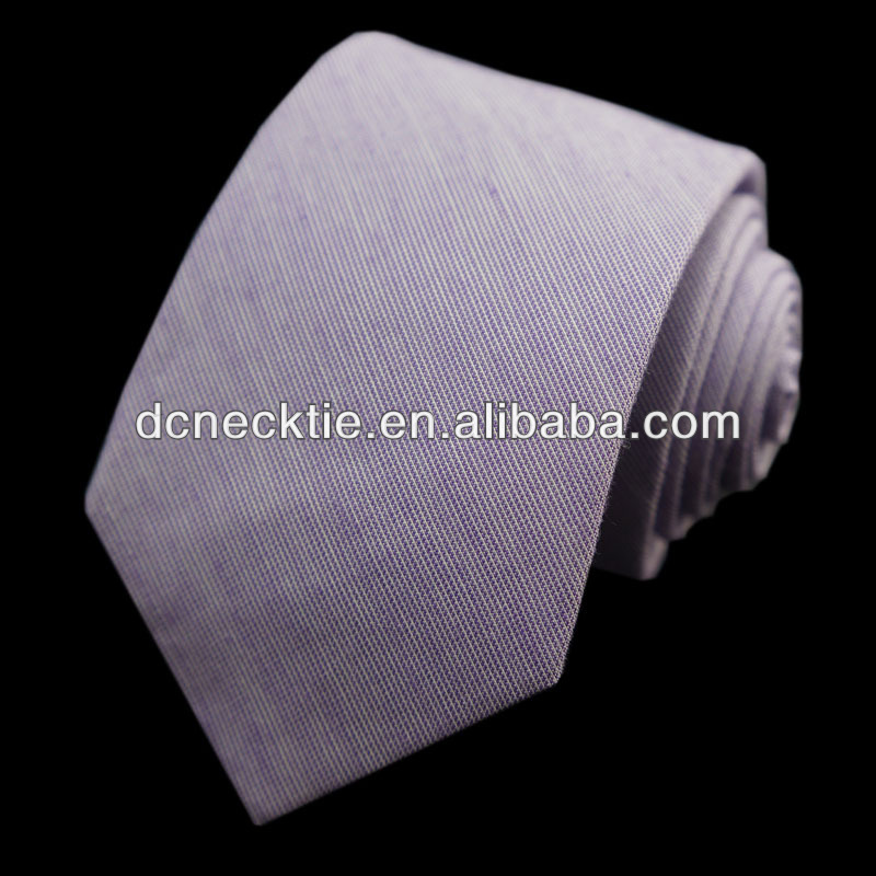 Solid plain cotton ties