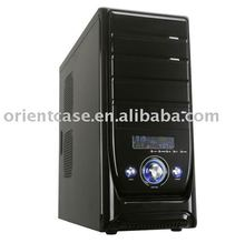middle ATX computer case with chassis size L450*W190*H430mm,LCD temperature display