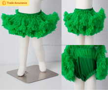 Newborn Petti skirt Bloomers Baby Green all in one bloomer attached to petti skirt