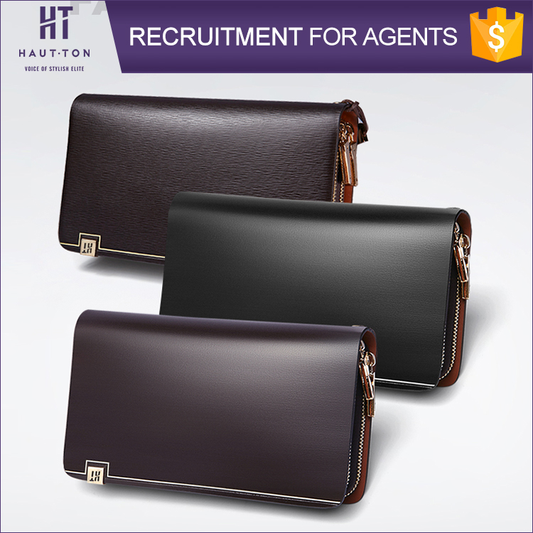 Top Selling Vintage Man Genuine Cow Split Leather Clutch Bag High Quality Card Protector Wallets For Men