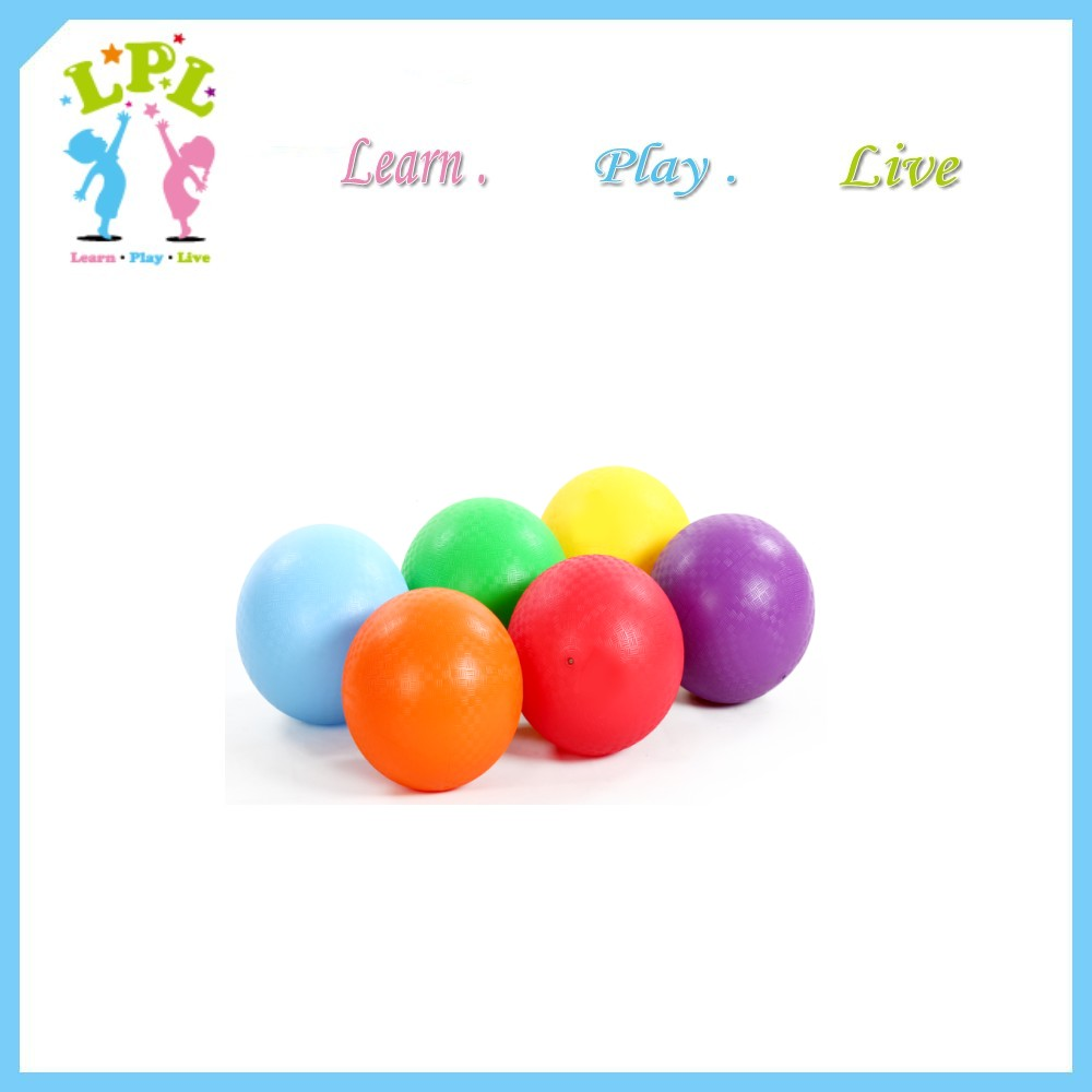 Different size pure color playground PVC ball kids toy ball inflated bouncy ball