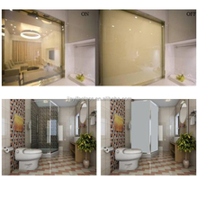 electric privacy glass,PDLC glass smart glass shower,white Intelligent glass