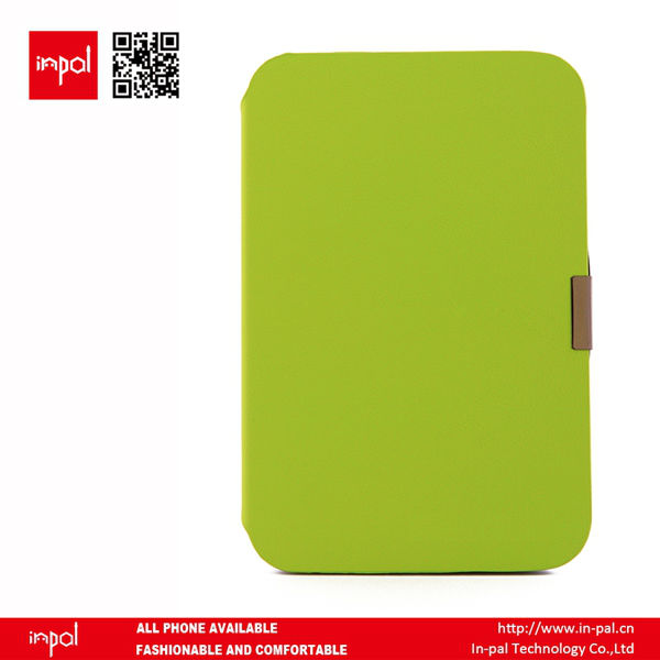 Green Litchi Lines Leather Protective smart cover for 8 inch tablet PC
