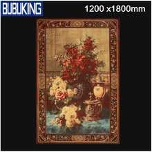 3D Flowers painting art ceramic tiles for wall,polished porcelain tile