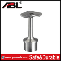 high quality stainless steel top mounted handrail corner glass bracket