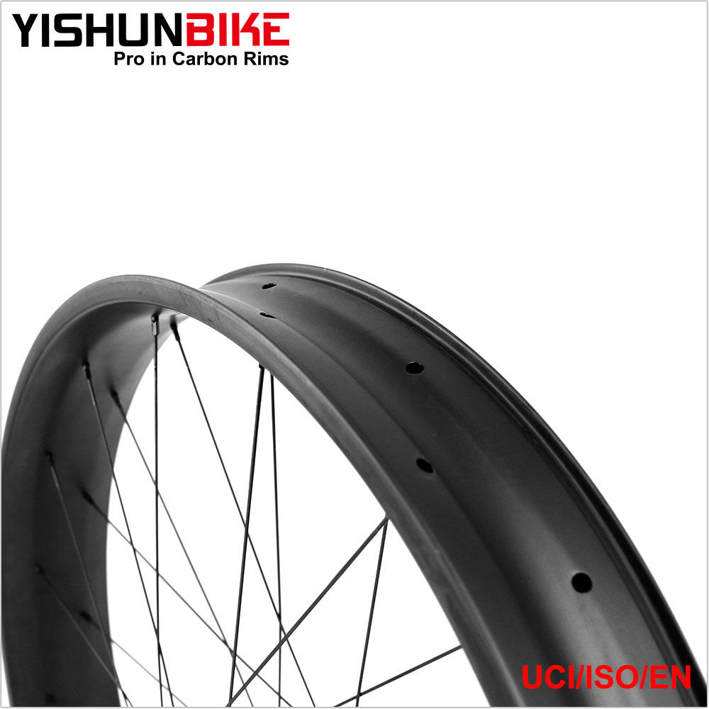2017 YISHUNBIKE 26er Fat bike Wheels carbon Chinese Wheelset 85mm Width Presta Valve