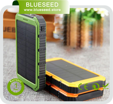 18650 battery led light Double USB high quality <strong>Portable</strong> mobile phone charger powerbank 20000mah power bank solar