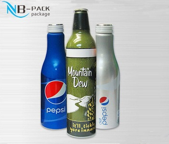 Empty aluminum 187ml wine bottles with excellent quality