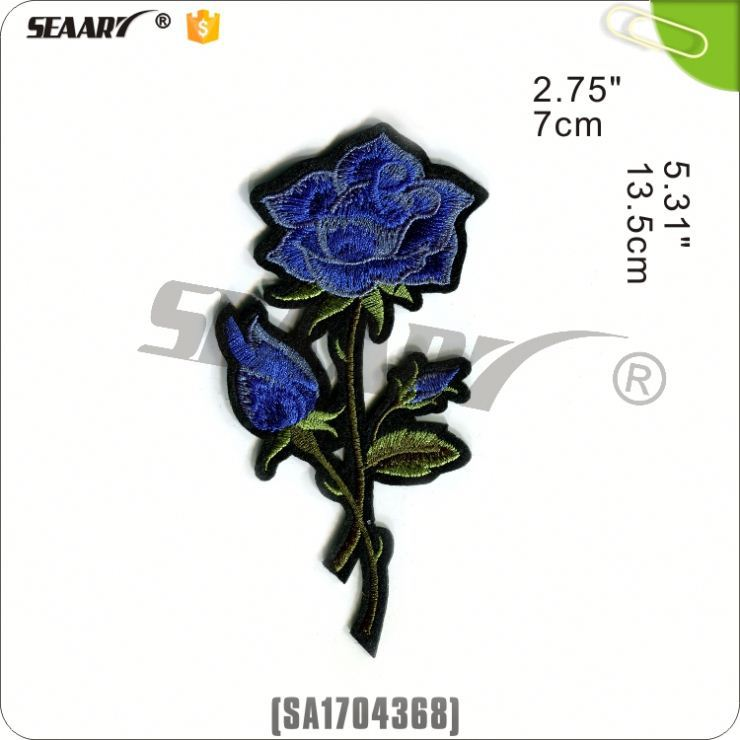 blue rose embroidery flowers