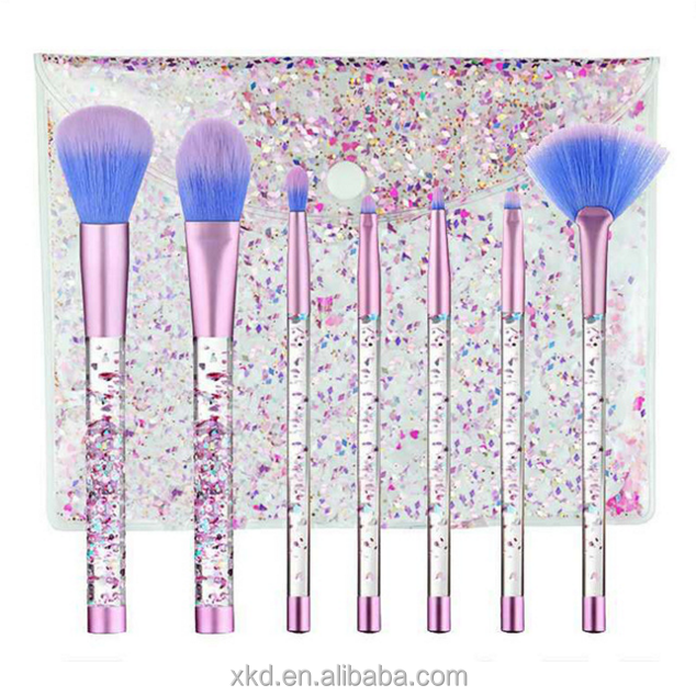 New design cosmetic makeup <strong>brushes</strong> customized 7pcs Liquid Glitter Make up <strong>Brushes</strong> Set