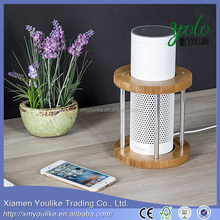 Bamboo Round Speaker Stand UE Boom and Other Models Protect and Stabilize