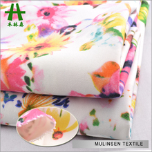 Mulinsen Textile Double Jersey 75D DTY Polyester Spandex Floral Printed Scuba Knit Fabric For Dress Skirts