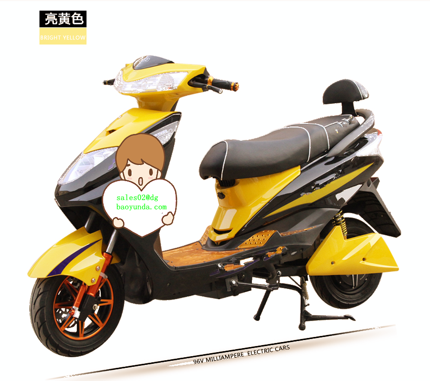 Hot Sale Cheap Motorcycle Adult Two Wheel Electrical Scooter , Electric Bicycle With 2 Seat