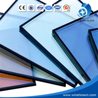 Safety Buliding Sound Insulation Tempered Energy Saving On-Line Low-E Glass For Curtain Wall