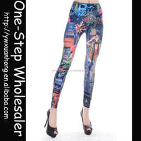 Wholesale 2014 Fashion Hot Sale New Sexy Tight Girls Women Ladies Beautiful cheap printed leggings