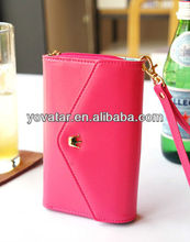 Fashion Korean cute envelope wallet case for Samsung Galaxy S3,S2,iPhone5g,4S/4