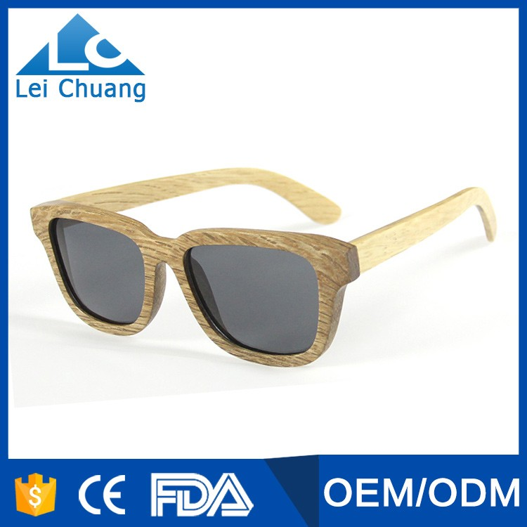2016 good quality and popular polarized wooden eyewear custom logo