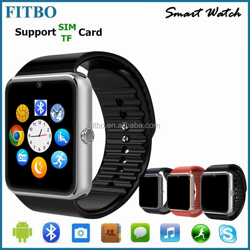 Good Bluetooth Pedometer Sync gt08 mobile watch phone price list