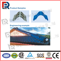 roof tile ridge cap roll making forming machine