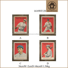 Personalised Antique Baseball Player Pictures of People Painting