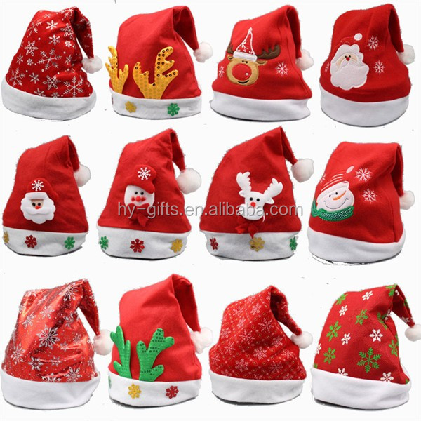 wholesale christmas hat map decorationi santa hat new year favor