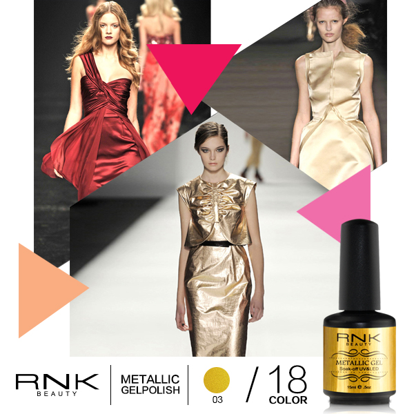 RNK free sample metallic gel polish soak off uv gel nail metal gel