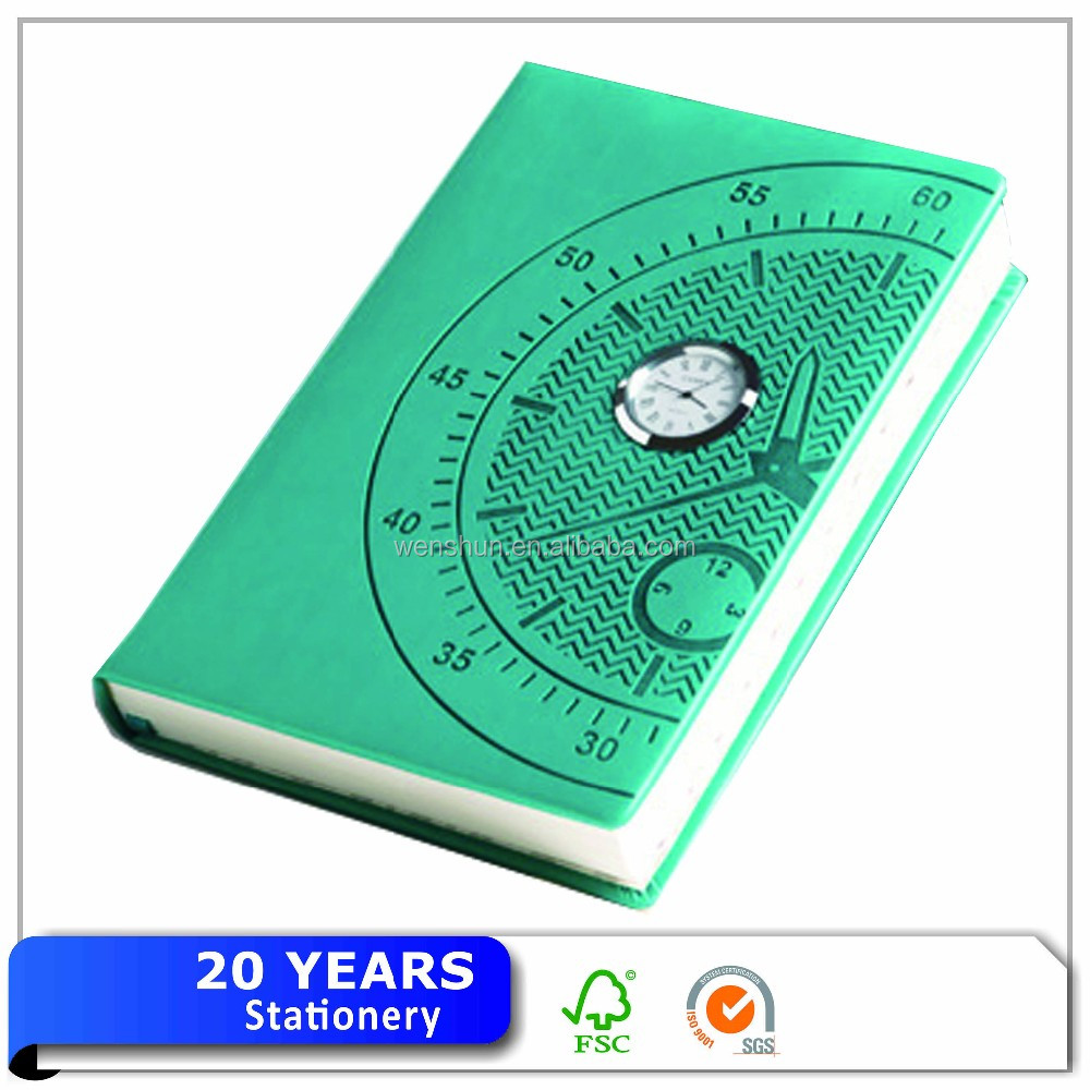 2015 fashion cheap special watch diary/clock notebook for gift