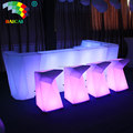 LED Outdoor Furniture Color Changing Rechargeable Led Bar Counter LED Home Bar Counter Lighting