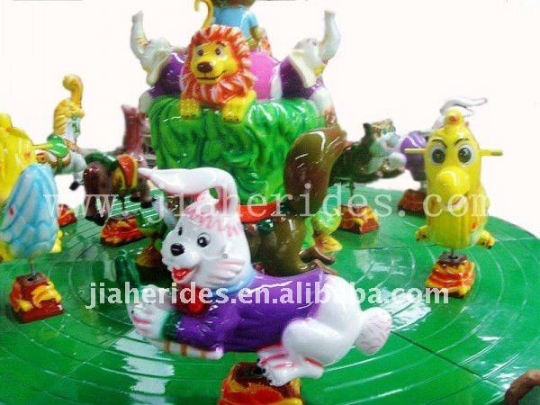 Interesting !!! amusement park equipment kiddie rides mini carousel