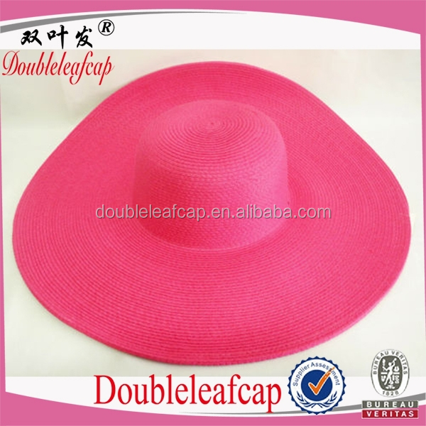 Women Lovely Wide Brim Beach Hat Multi Color Bowler Straw Hat Fashion Design Fedora Hat